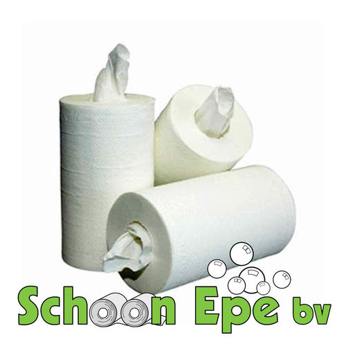 Poetsrol Mini 1 laags tissue wit 12 rollen a 120 meter